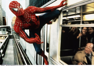 Fra filmen Spiderman 2. Tobey Maguire som Spiderman. 2004. Foto: Polfoto