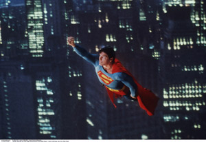 Christopher Reeves som Superman. 1978. Foto: Polfoto