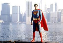 Christopher Reeve i filmen Superman fra 1978.