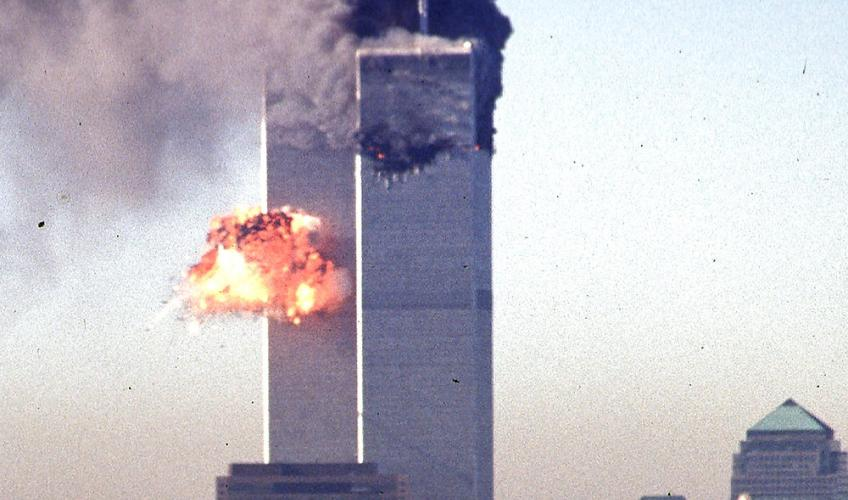 Twin Towers i flammer