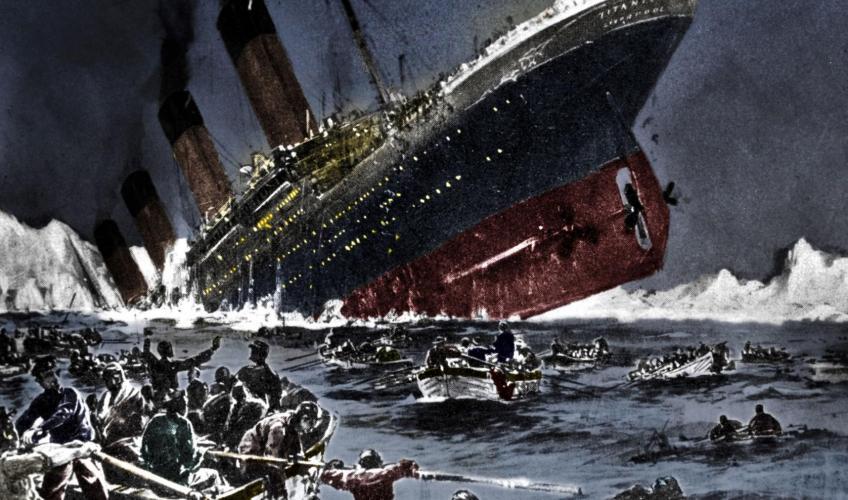 hvor mange døde på titanic
